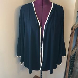 THE LIMITED black & white cardigan w/ bell sleeve
